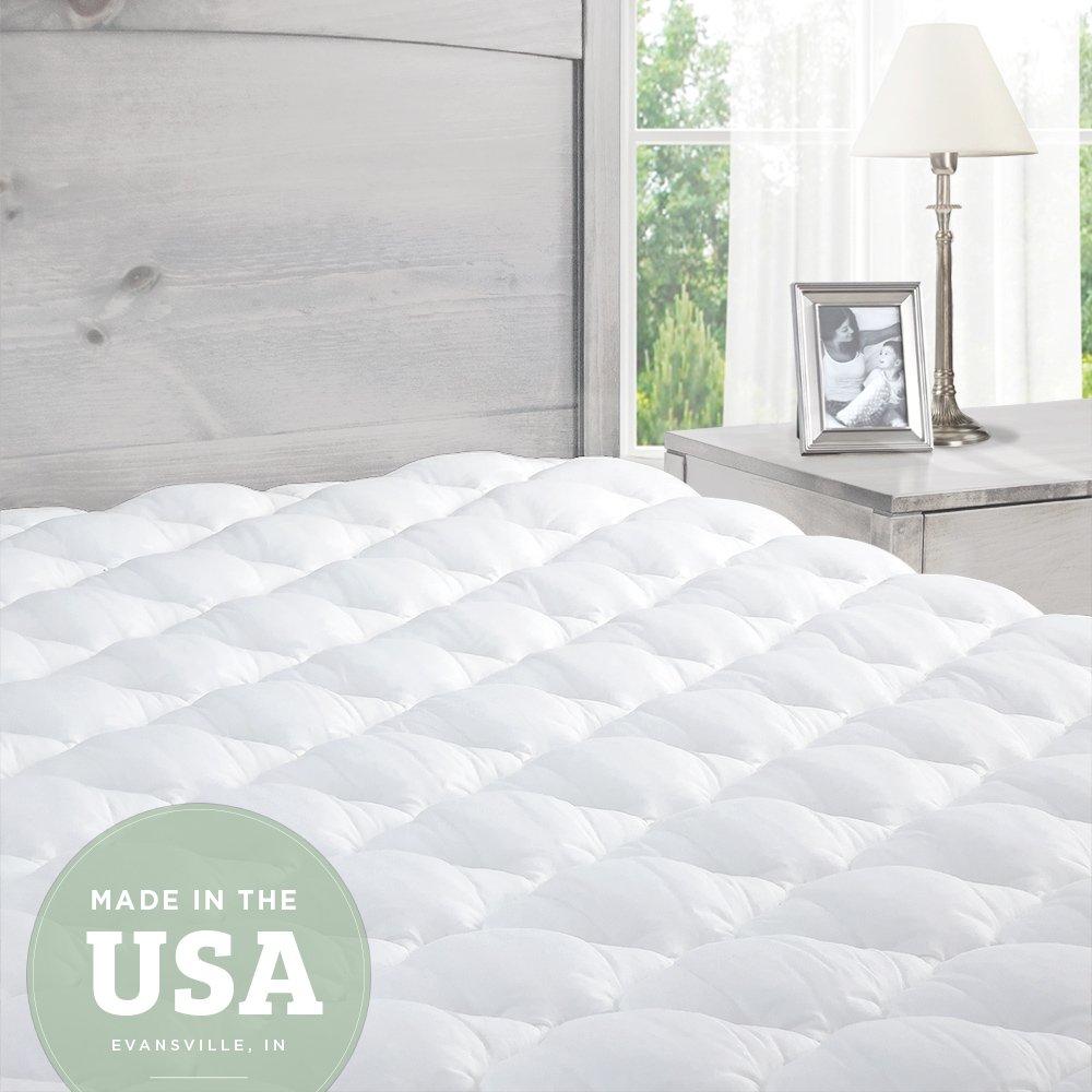 eLuxurySupply Cobertor Acolchonado y Ajustable para Tu Colchón | Hipoalergénico | ES Reconocido Por Su USO en las Camas de la Cadena de Hoteles Lujoso - Twin XL