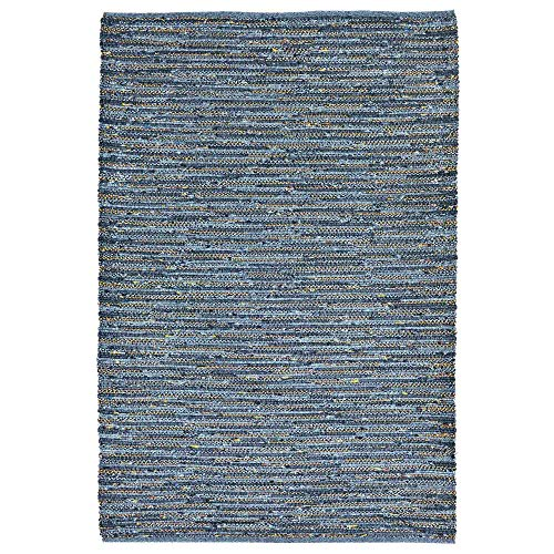 Liora Manne SH057A58203 Desert Striped Weave Rug, Indoor/Outdoor, Room Size, Blue
