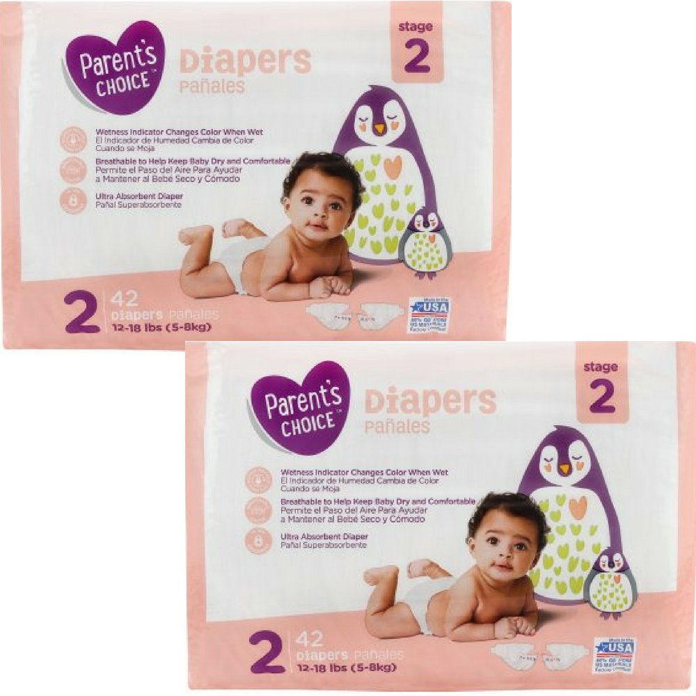 Amazon.com: Branded Parents Choice Diapers (Size 2 (42 ct), 2 Pack): Health & Personal Care