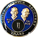 6 Year Founders Blue Tri-Plate AA Medallion Bill & Bob Chip VI