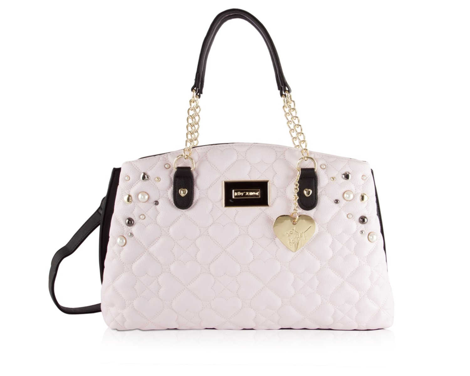 Betsey Johnson Multi Compartment Satchel in Blush, Tote, Purse