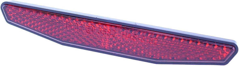 Motorrad Reflektor Hinten Rot 6 Eckig 125x18mm Selbstklebend Rückstrahler Katzenauge Roller Quad E Geprüft Auto