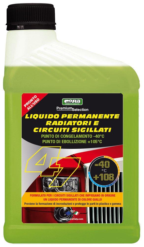 CORA 0047 Liquido Permanente Radiatori e Circuiti Sigillati-40° C, Giallo, 1L Cora S.p.A