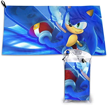 Amazon Com Microfiber Beach Towel Sonic Hedgehog Sand Beach Towel Quick Dry Super Absorbent Lightweight Towels Sand Proof Towel Best Lightweight Towel For The Swimming Sports Beach Gym Camping Home Life Sports