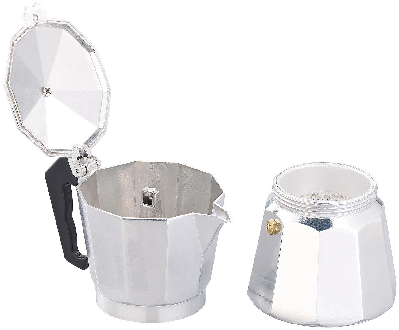 Cucina di Modena Espresso de eléctrica para 6 tazas, para Gas, Eléctrico de horno y vitrocerámica de campo: Amazon.es: Hogar