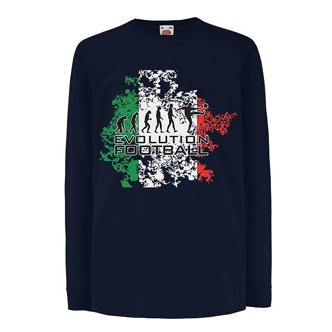 lepni.me Niños/Niñas Camiseta Evolución del Fútbol - Italia, Rusia Campeonato 2018, Copa del Mundo, Equipo de Fútbol Italiano: Amazon.es: Ropa y accesorios
