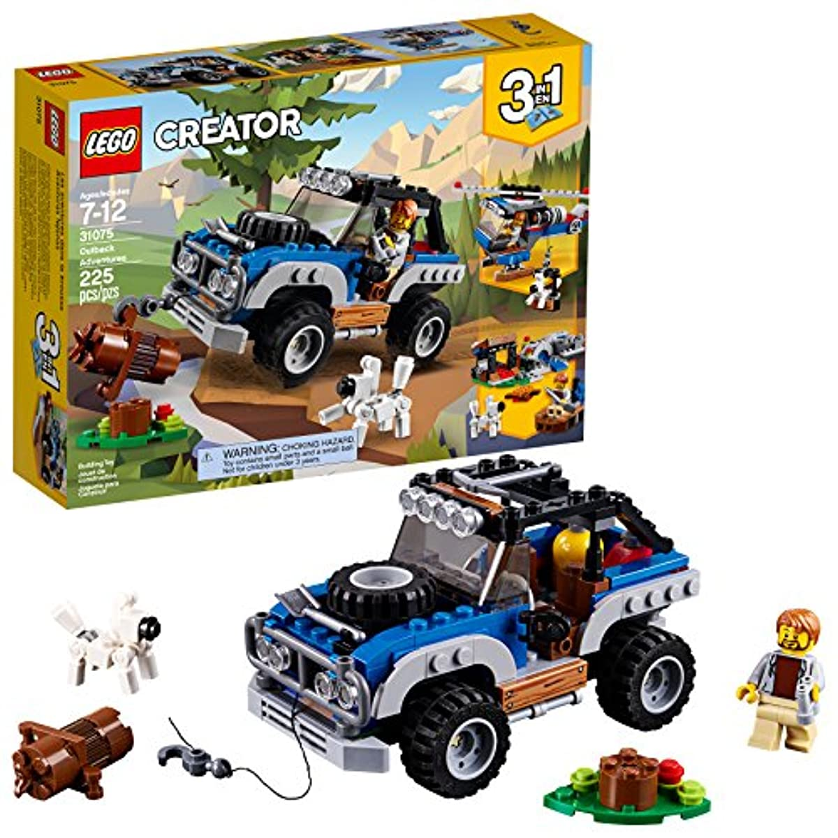 [레고 크리에이터] LEGO Creator 3in1 Outback Adventures 31075 Building Kit (225 Piece)