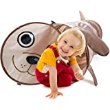 6 Foot Puppy Themed Pop-Up Play Tunnel, Children's Exploration Tube Toy with Carry Bag – Indoor & Outdoor by K-Roo Sports
