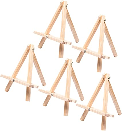 Natural Wood Easel Photo Painting Display Stand Tea Cake Card Holder