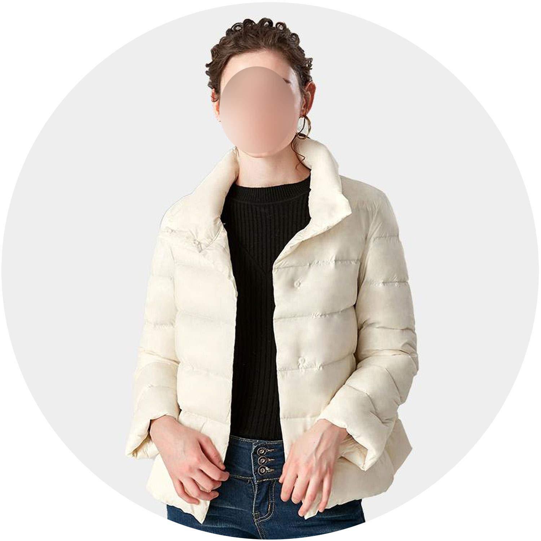 Beige Talk about heaven Winter Lightweight Down Jacket Women Windproof Warm Duck Down Coat Outerwear
