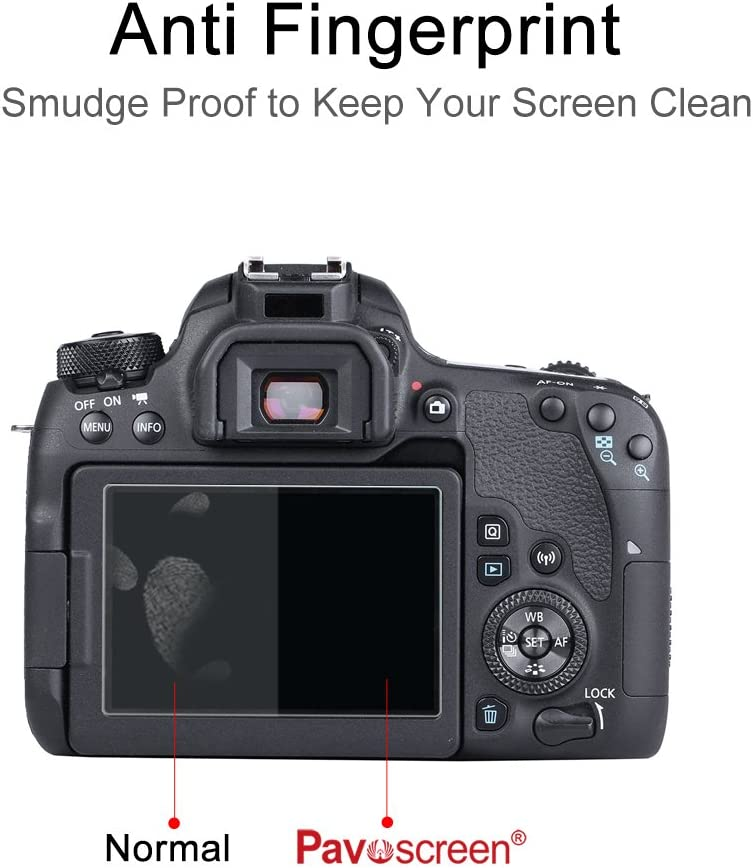 Ultra Clear 9H Screen Protector Pavoscreen/® 3Inch Tempered Glass Filter Scratch Proof Anti Fingerprint Easy Clean Smooth Touch Screen Cover for Canon 77D