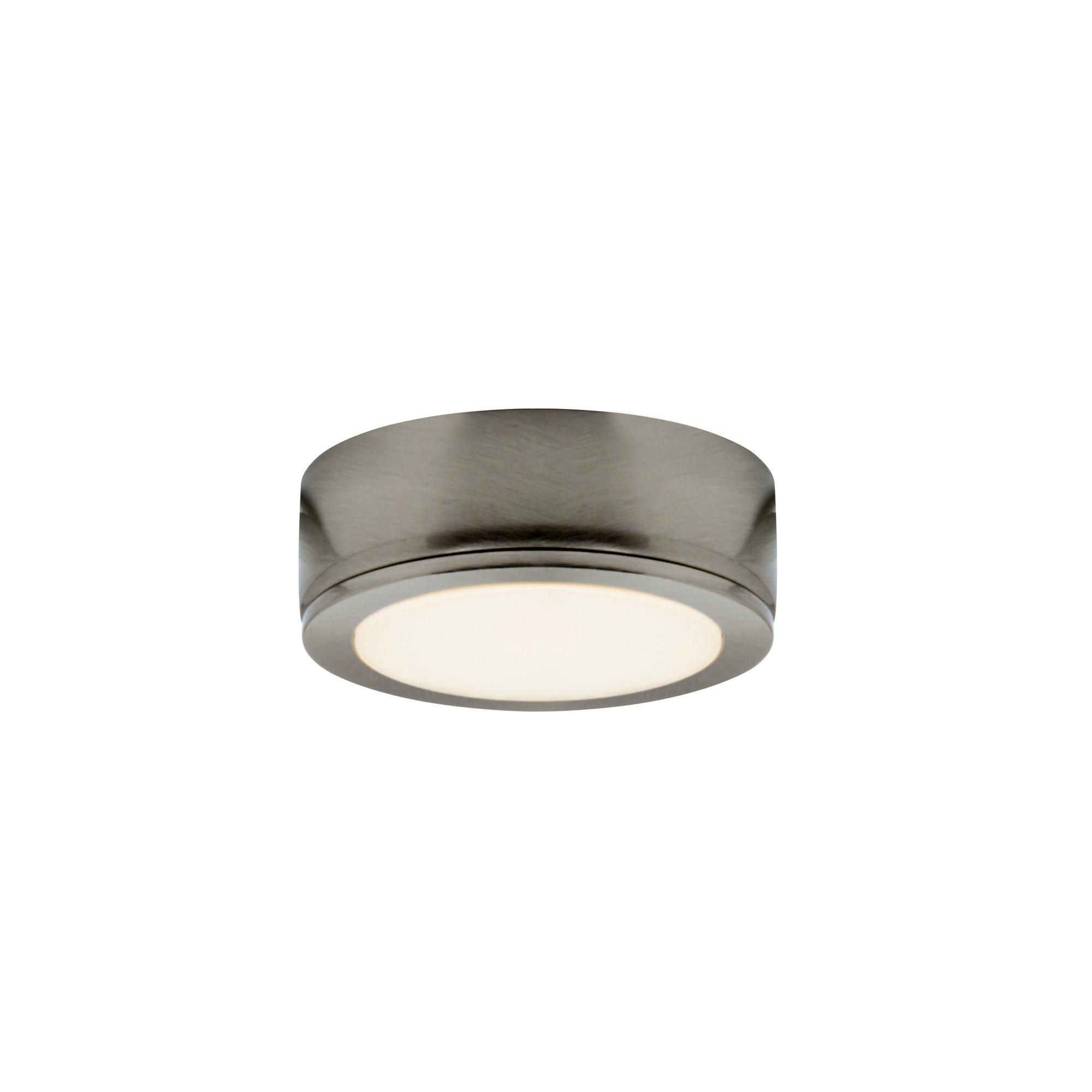 DALS Lighting 6001-SN 2.75'' Power LED Under Cabinet Puck Light, Satin Nickel