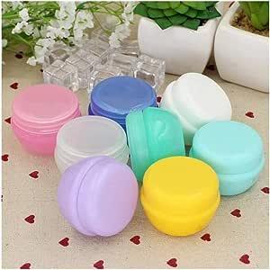 5Pcs/Lot Mini Empty Jar Pots Cosmetic Makeup Inner Lid Face Cream Lip Balm Container My Refillable Bottles Wholesale (Color : Yellow, Size : 10g)