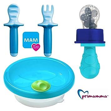 Set Girl mit Lernbesteck MAM Dipper Set 6 MAM Kindergeschirr /& Primamma Fruchtsauger Girl