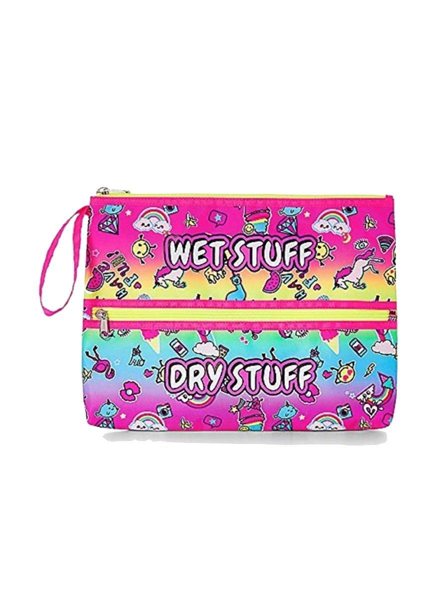 Justice Swim Beach Bikini Clutch Bag for Girls Stickers