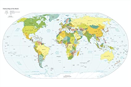 Political Map For Kids.Paper Plane Design World Map Political Map Of The World 60 X 90 Cm
