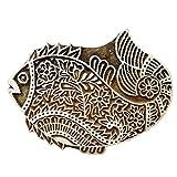 fish printing - Handmade Wooden Block Textile Printing On Fabric Stamp Fish Design Fine Art