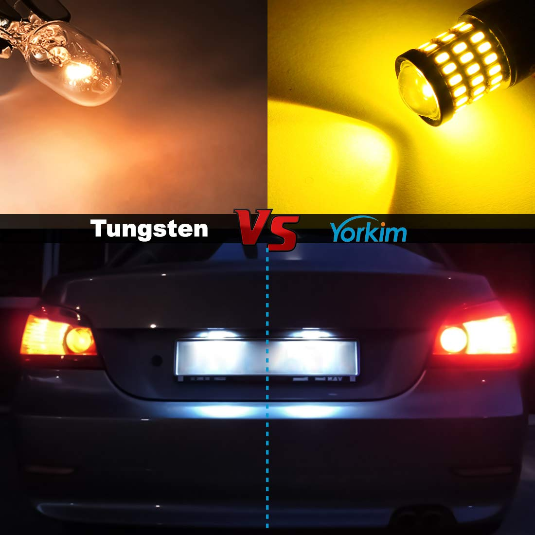 3157 LED Backup Reverse Lights Pack of 2 3156 LED Tail Lights Yorkim Super Bright 3157 Amber LED Bulb Turn Signal Bulb with Projector 3157 LED Brake Lights 3056 3156 3057 3157 4157 LED Bulbs