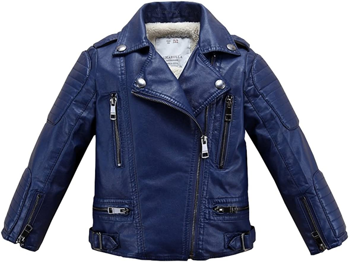 Stesti Winter Coat for Baby Boy Motorcycle Leather Jacket Winter Coat for Baby Girl
