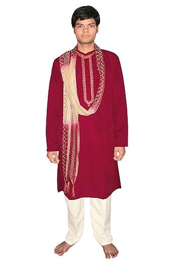 Traje tradicional estilo bollywood, Rojo, para Hombre ...