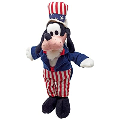 Disney Goofy Uncle Sam Mini Bean Bag Plush: Toys & Games
