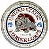 United States Marine Corps Silver Poker Card Guard