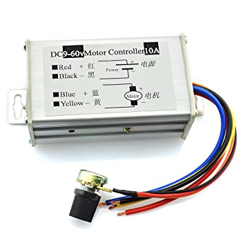 dzs elec dc motor controller 9 60v pwm control switch motor speed rh amazon com