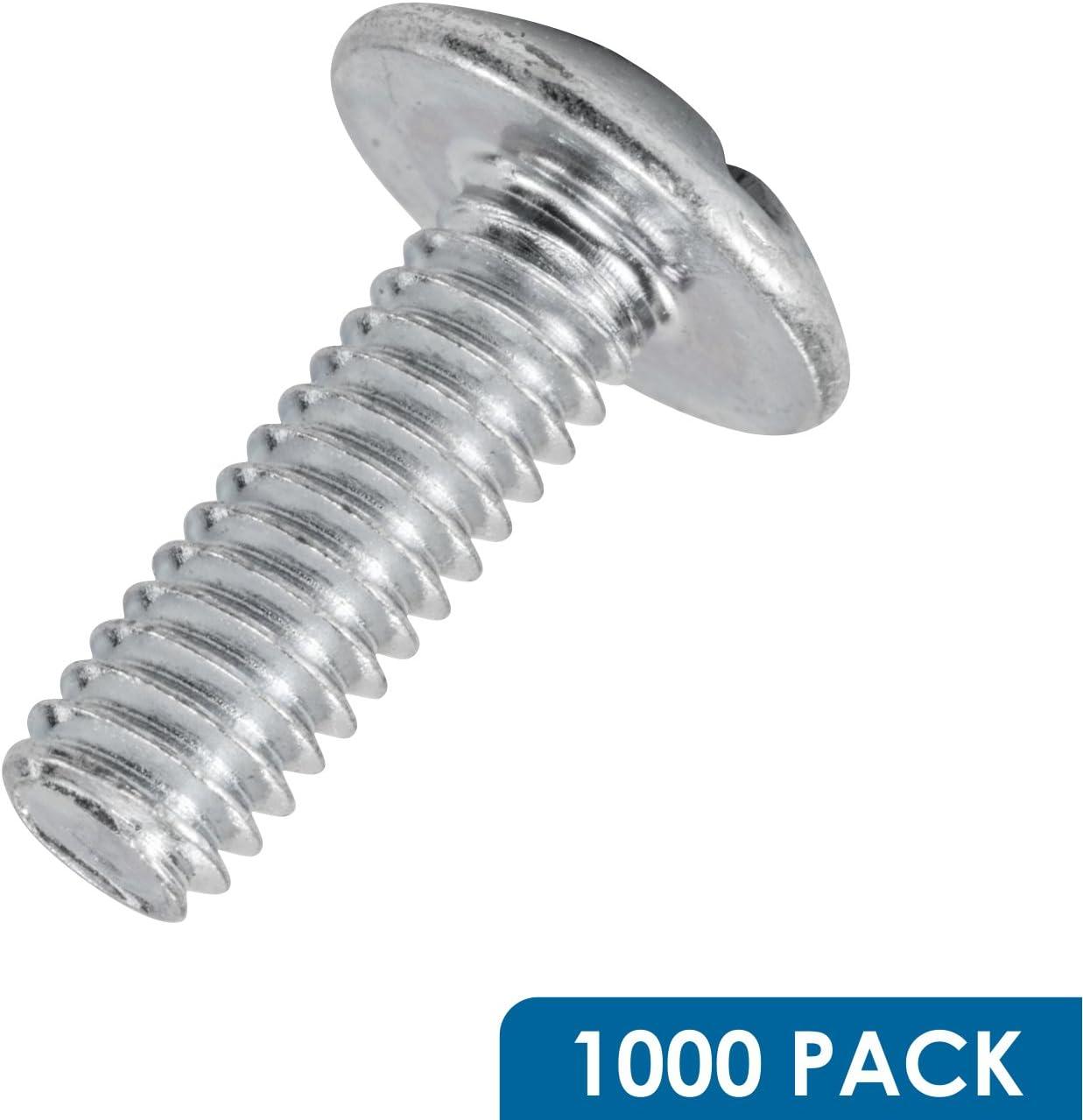 Rok Hardware 1000 Pack #8 x 1//2 Machine Thread Phillips Slotted Truss Head Knob Handle Screws Zinc
