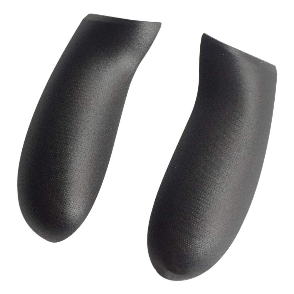 Meijunter Replacement Non-Slip Rear Handle Grip Left Right Panel 1 Pair for Microsoft Xbox One / Xbox One S / Xbox One X Controller - Black