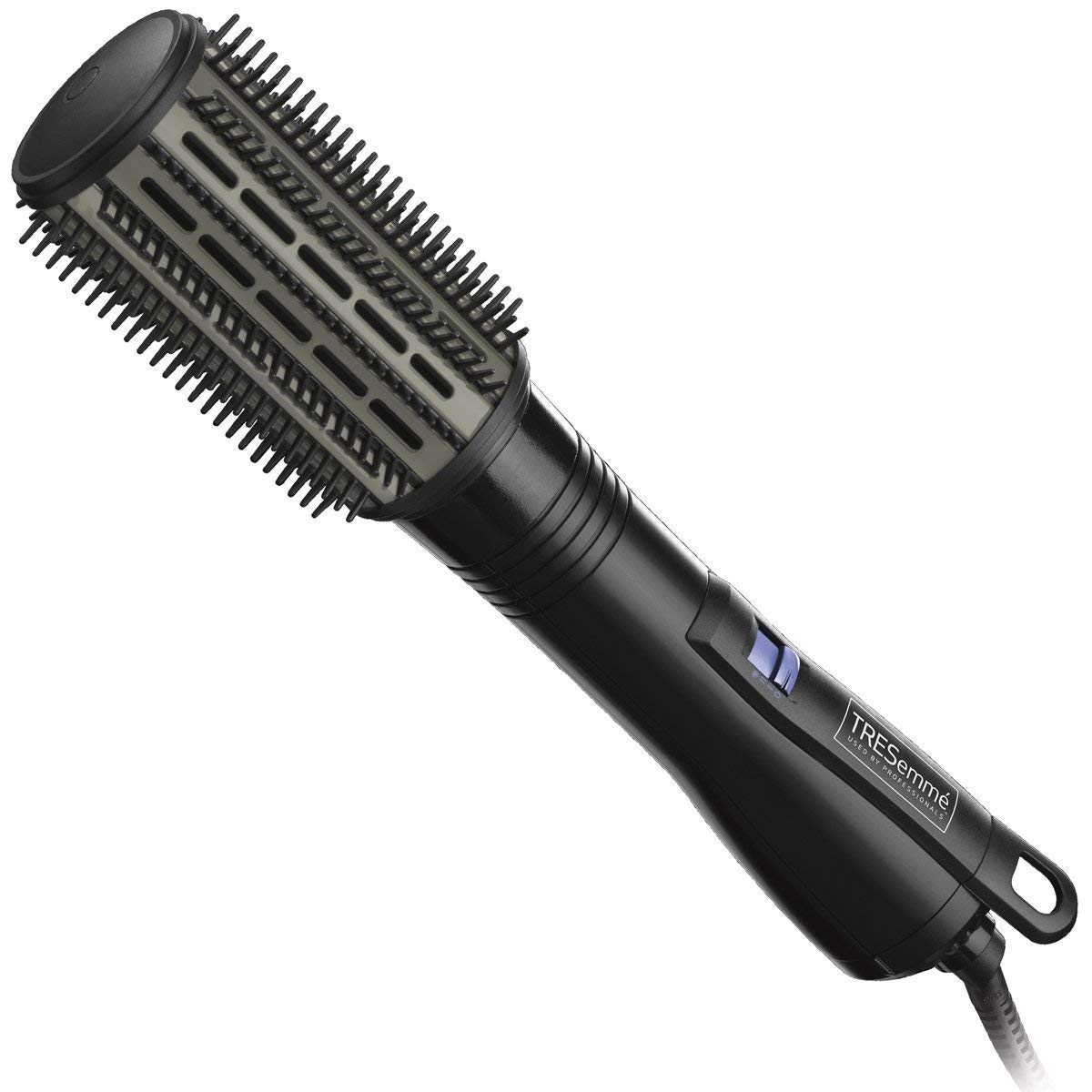 TRESemmé Platinum Strength Curling Iron Brush | Hot Air Brush for All Hair Types, Wet & Dry | Anti-Scald Curler Provides Excellent Volume | Hair Dryer Straightener Brush Reduces Frizz & Enhances Shine