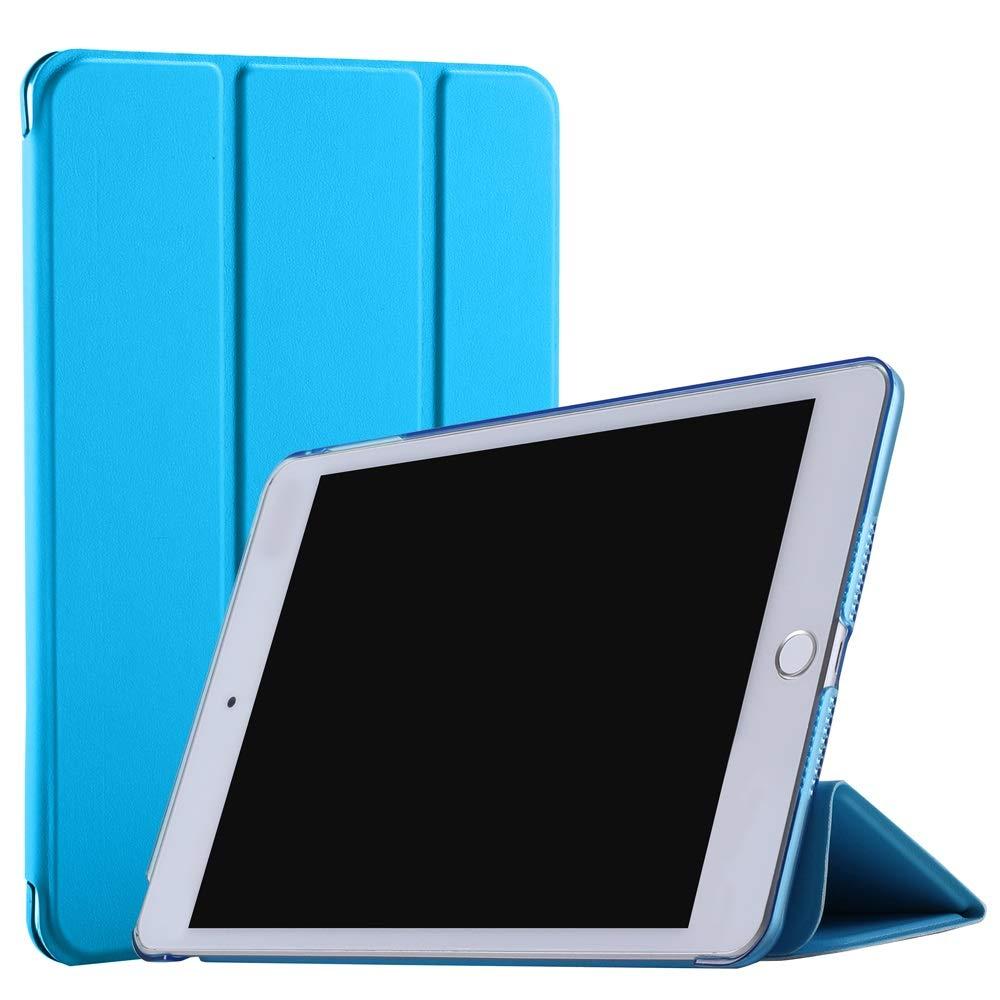 "DuraSafe 三つ折り ウルトラスリム スマートカバーケース 半透明バック iPad Air 1-9.7"" 2013 DSTriFold1217 iPad Air 1 - 9.7\ ブルー B07LG4NTBC"