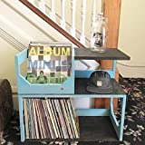 Vinyl Record end Table // Stash Your Wax and other items in style! Displays, Protects and allows easy access to your collection of over 250