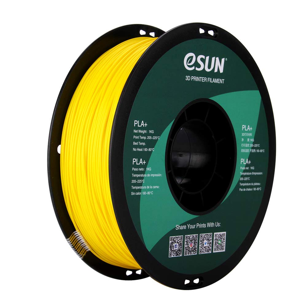 eSUN PLA PRO (PLA+) 3D Printer Filament, Dimensional Accuracy +/- 0.03 mm, 1 kg Spool, 1.75 mm, Yellow
