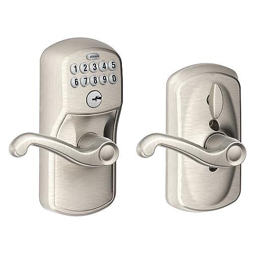 Electronic Door Handle And Deadbolt Amazon Com