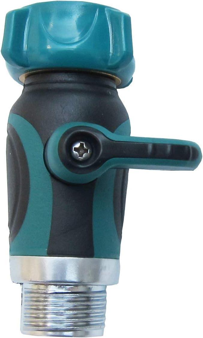 VerRich Garden Hose Shut Off Valve Connect, 3/4-Inch Straight Garden Hose Splitter Outside Spigot Attachment Faucet Extension