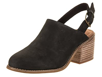 215a655d595 TOMS Women s Leila Slingback Black Leather 5.5 ...