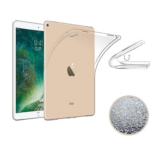 3 opinioni per iPad pro 10.5 2017 Caso Protettivo, TopACE Ultra Slim Molle di TPU Trasparente