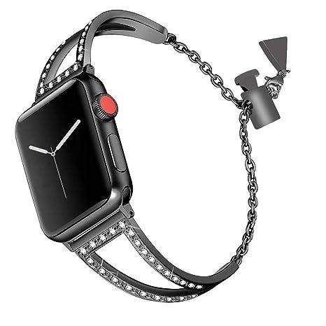 Bracelet Apple Watch Series 3 Femme,Bracelet Apple Watch 38mm Acier iWatch  Series 2 Bracelet