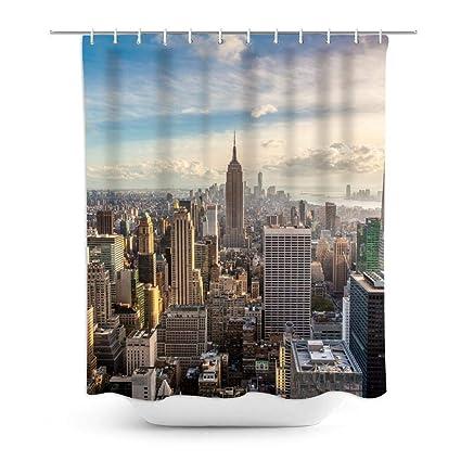 New York Shower Curtain Skyline Exotic City