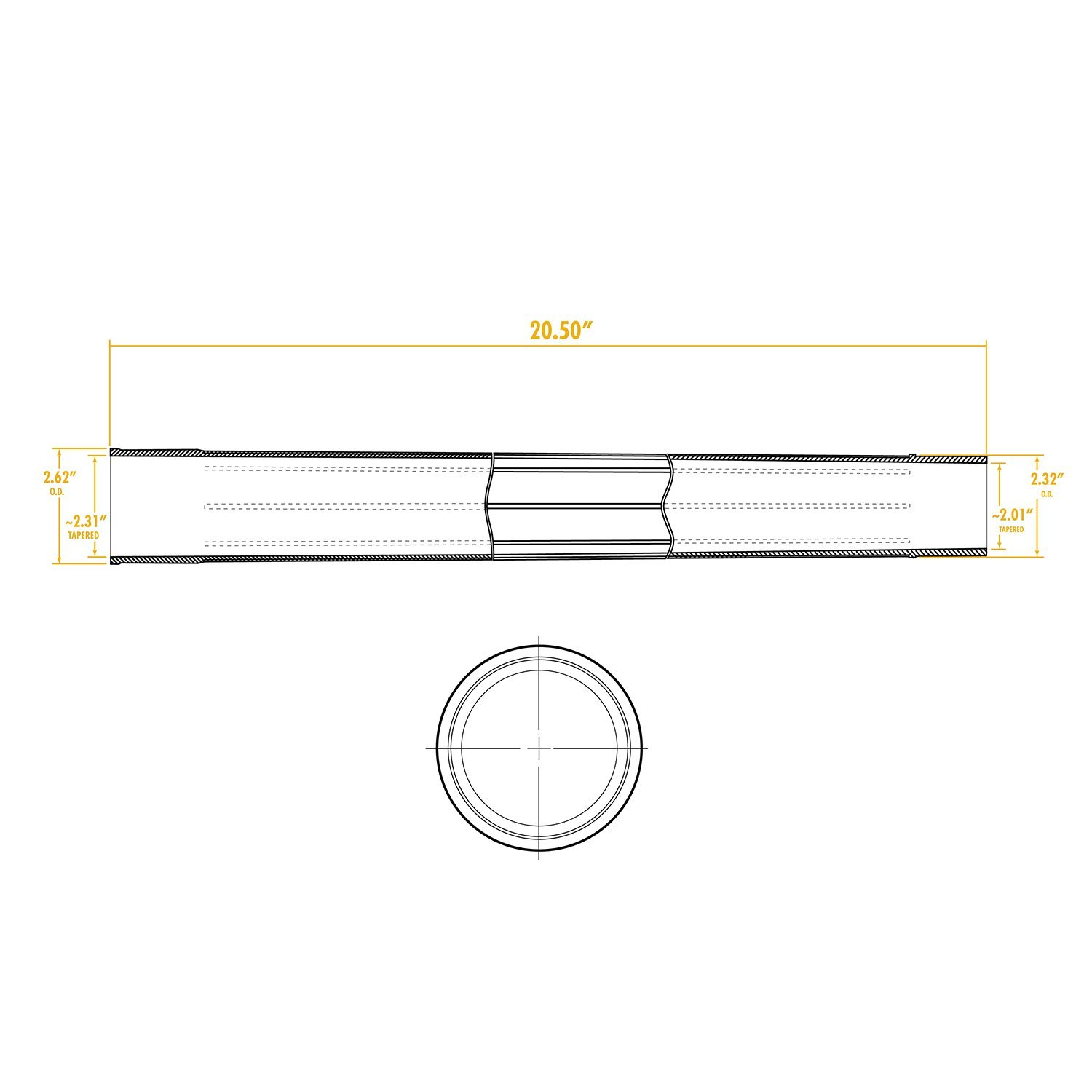 WORKSHOP Wet//Dry Vacs WS25008A 2-1//2-Inch Extension Wand for Wet Dry Shop Vacuum