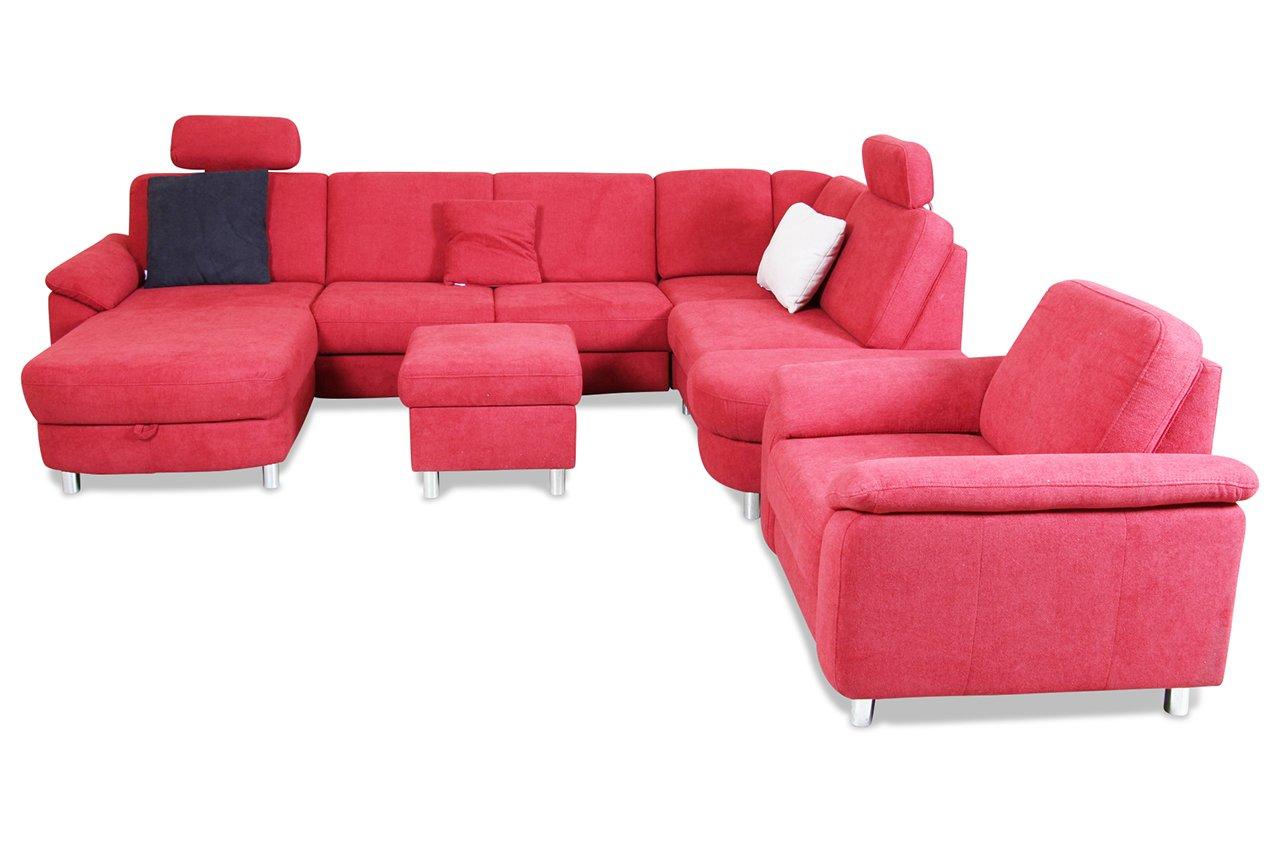 Sofa Sit More U Wohnlandschaft Xl Rechts Delano Webstoff Rot