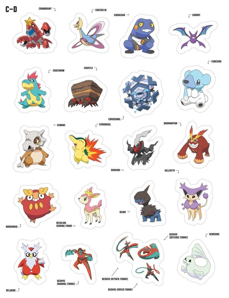Stickers Pokemon.Amazon Com Pokemon Mega Sticker Collection Over 650