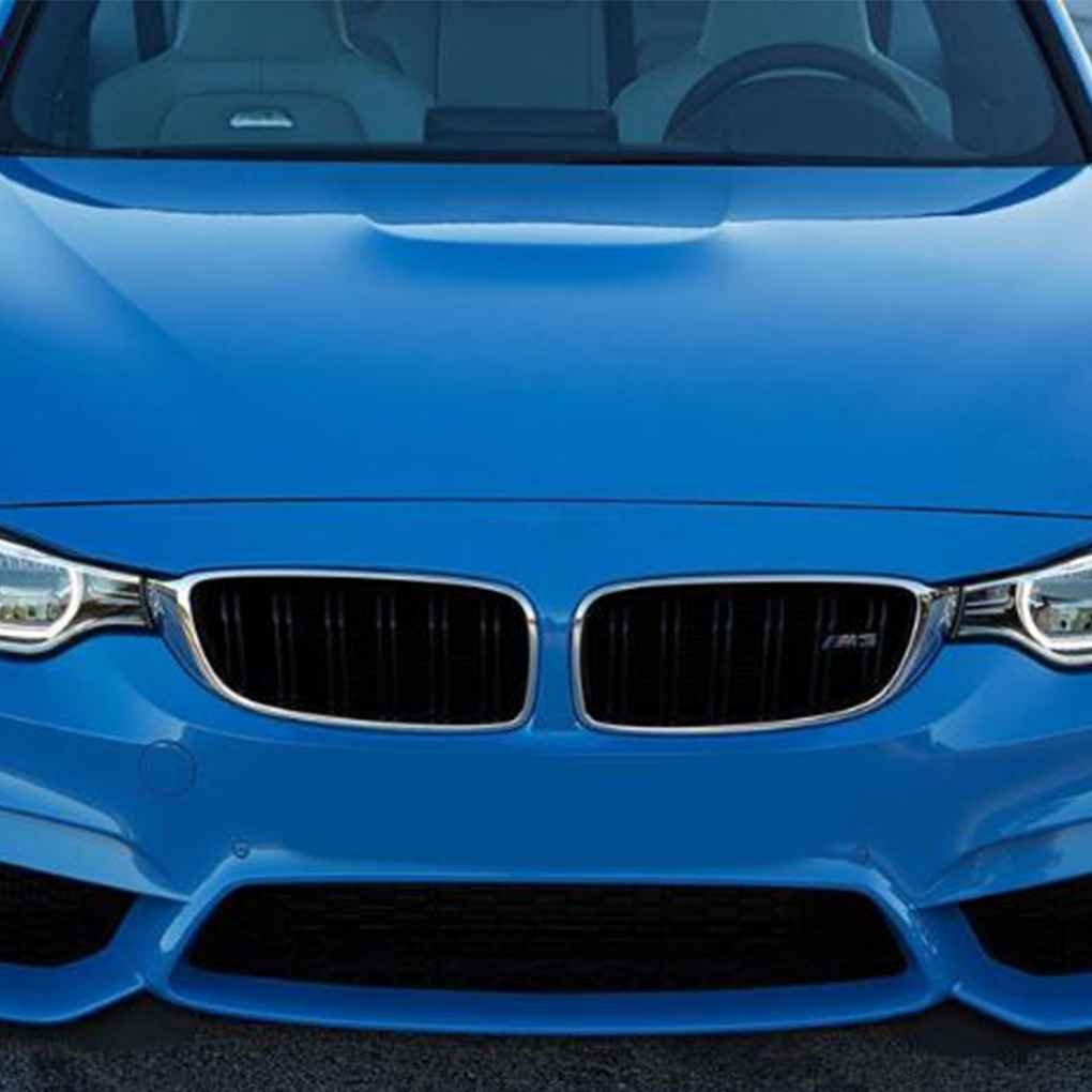 Hotaluyt 1 par Delantero de la Parrilla para BMW Serie 5 E39 518 520 523 525 528 530 1999-2003 Doble L/ínea del list/ón Frontal Brillo Negro ri/ñ/ón Grill
