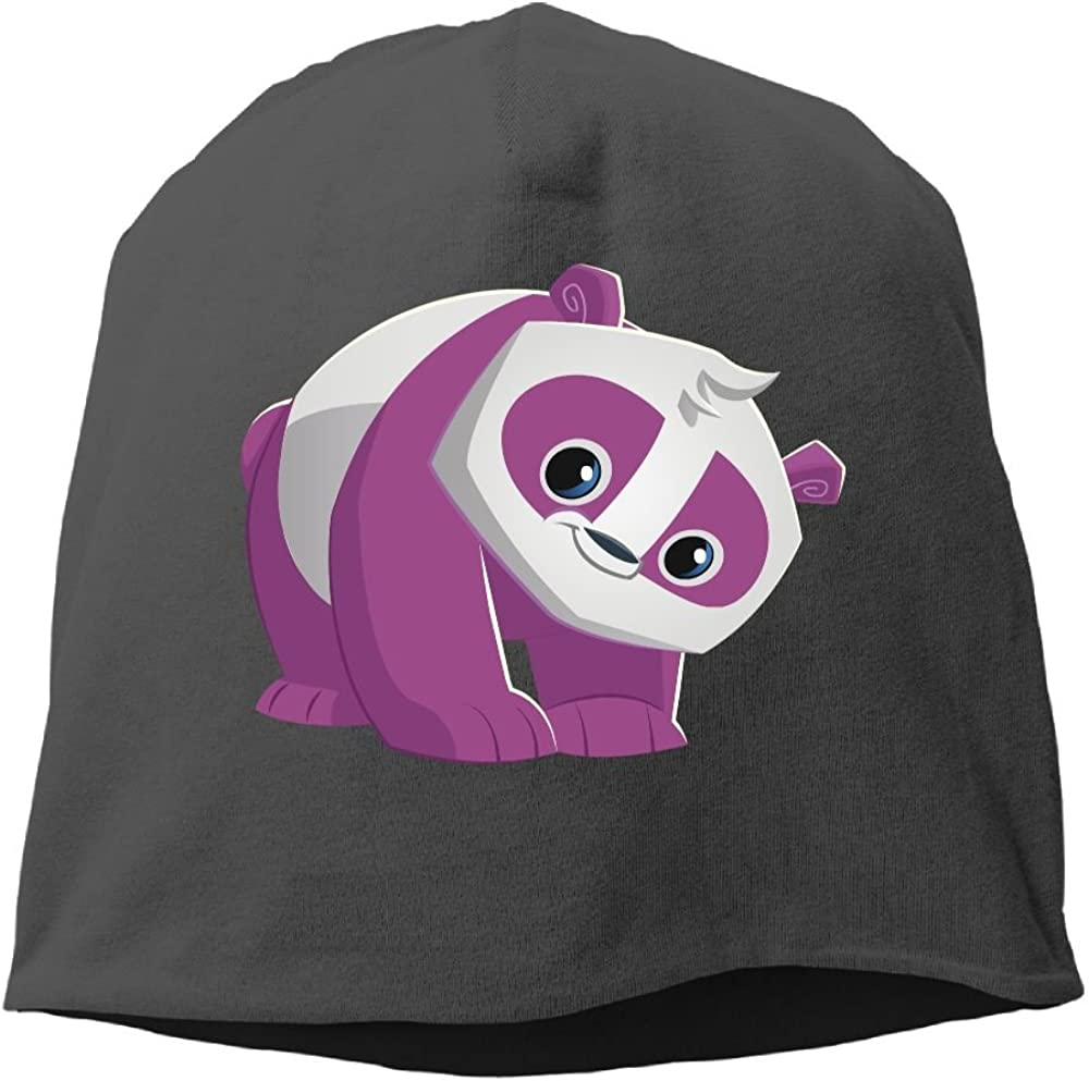 Fashion Solid Color Purple Panda Lover Headband for Unisex Black One Size