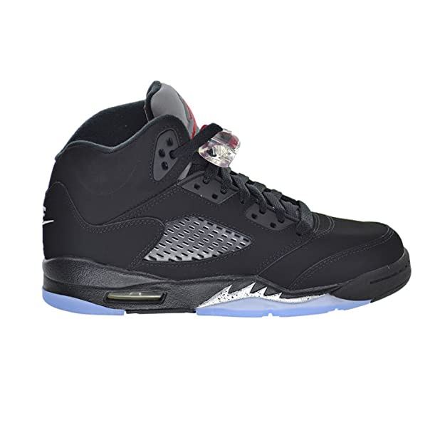 in stock innovative design size 40 Air Jordan 5 Retro OG BG Big Kid's Shoes Black/Fire Red/Metallic ...