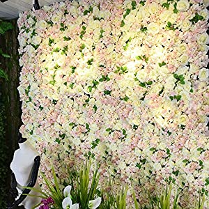 YD Background Wall - Artificial Simulation Rose Wall Board Family Wedding Anniversary Indoor Background Floral DIY Decoration (4 Color Choice) /& (Color : D, Size : 50x50cm) 110