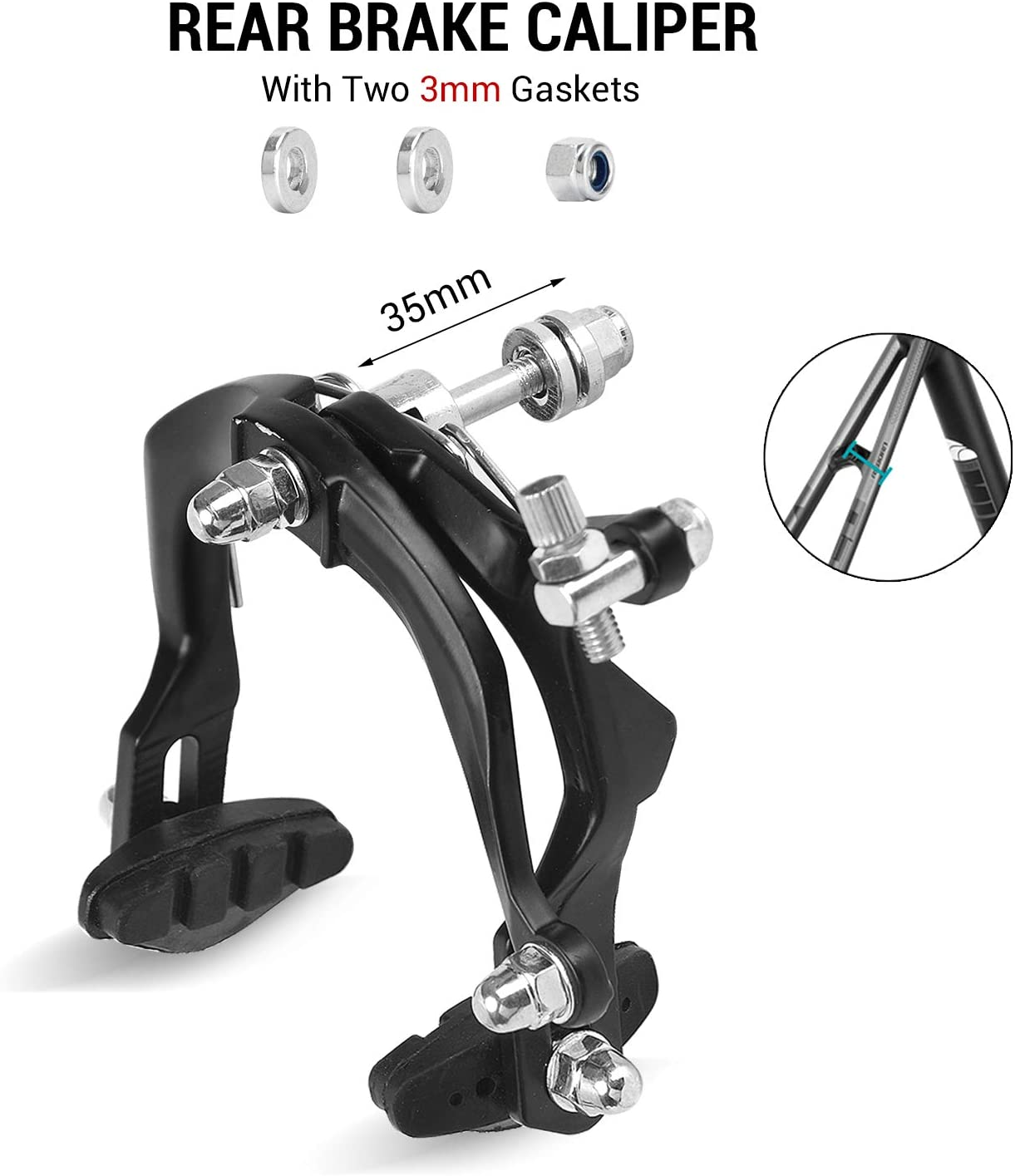 Lightweight Alloy Bike Bicycle Long Reach Road Calipers Front Rear C-Brakes Part