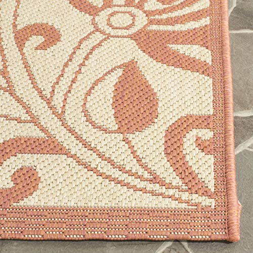 Safavieh Courtyard Collection CY2961-3201 Natural and Terra Indoor/ Outdoor Runner (2