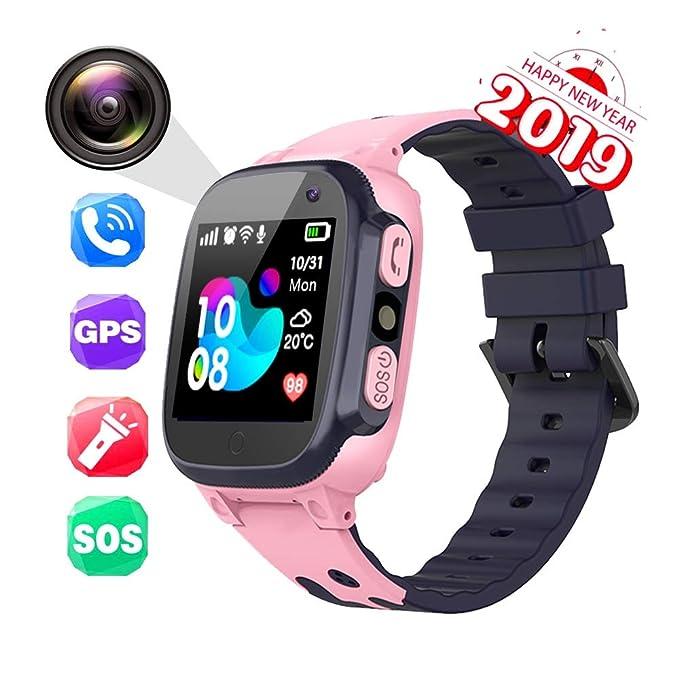 XIWAN Niños Llaman Relojes SmartWatch bebé 2G Reloj perseguidor de ...