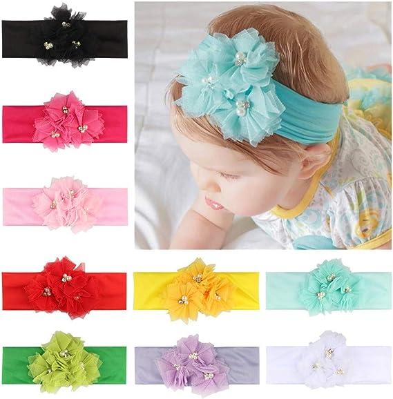 Kinder M/ädchen Haarband Elastisches Blume Stirnband Baby Turban Knoten Kopf Wraps Huhu833 Baby Stirnb/änder